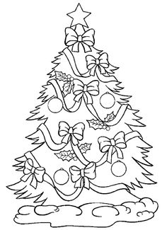 Free Printable Christmas Tree Coloring Pages For Kids Holiday