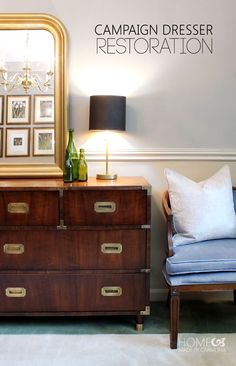 Stunning Campaign Dresser Restoration. Great tips!