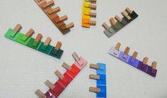 手作り色板で、お外で色探し | お二人さま日記 〜働くママの双子育児〜 Diy And Crafts, Crafts For Kids, Handicraft, Montessori, Origami, Baby Kids, Triangle, Design, Bebe