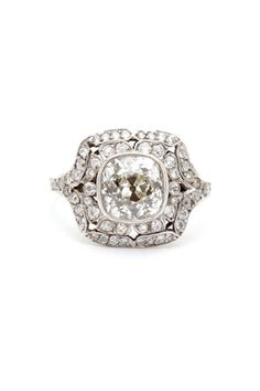 16 Diamond Vintage Engagement Rings For The Timelessly Cool Bride #refinery29  http://www.refinery29.com/60051#slide16