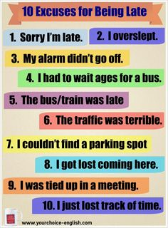 10 Excuses for being late