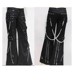 Gothic and Punk Rock Clothing Mens Womens Chain Pants Trousers SKU-11404008