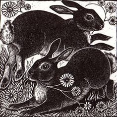 """Spring Rabbits"" by Rosamund Fowler"