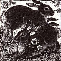 """Spring Rabbits"" by Rosamund Fowler"