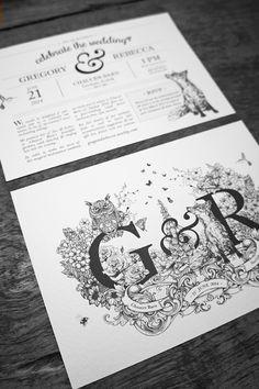Wedding Branding by Greg Coulton, via Behance
