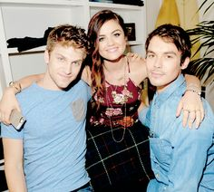 Lucy, Tyler and Keegan at the Hollister...