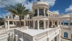 This Lavish Florida Estate Features an Ice-Skating Rink and a Go-Kart Track - Still under construction, Le Palais Royal is currently on the market for $159 million White Mansion, Dream Mansion, Modern Mansion, Dream Home Design, My Dream Home, Luxury Homes Dream Houses, Dream Homes, Mansions Homes, Luxury Mansions