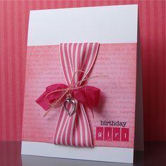bday card, ribbon, jute, charm