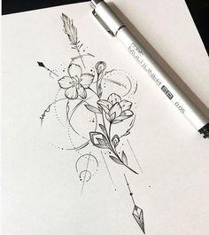 10 Minimalist Tattoo Designs For Your First Tattoo - Spat Starctic Mandala Tattoo Design, Dotwork Tattoo Mandala, Design Tattoo, Flower Tattoo Designs, Flower Tattoos, Neue Tattoos, Bild Tattoos, Quote Tattoos, Compass Tattoo