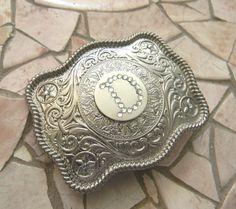 Custom Initials Monogram Letter Belt Buckle by StepOriginals
