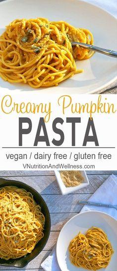 Creamy Pumpkin Pasta | Posted By: DebbieNet.com
