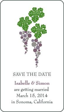 Grape Save the Date Magnet - $0.72/ea