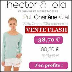 #missbonreduction; Vente Flash : réduction de 38,70 € sur le Pull Charlène Ciel chez Hector et Lola. http://www.miss-bon-reduction.fr//details-bon-reduction-Hector-et-Lola-i855293-c1835029.html