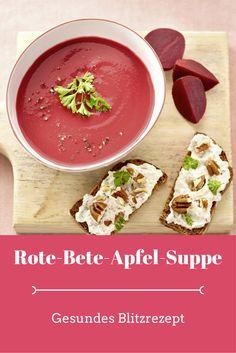 Rote-Bete-Apfel-Suppe mit Meerrettich-Pekanuss-Roggenbrot (Foto: ©Hubertus Schüler)