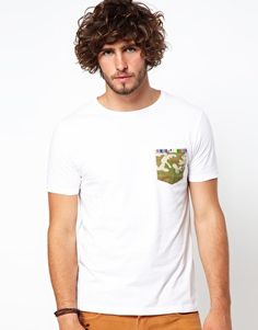 Enlarge ASOS T-Shirt With Camo Pocket