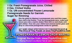 pomegranate lemon drop martini
