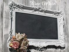 Beautiful frame! You could use chalkboard paint in the inside and write something...Bride and Groom names, verse, sayings, etc.