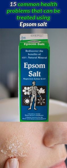15 COMMON HEALTH PROBLEMS THAT CAN BE TREATED USING EPSOM SALT Question: When is salt not salt? Answer: When its Epsom Salt! you see Epsom Salt is not really salt at all its chemical name is magnesium sulfate a mixture of the mineral magnesium and the compound sulfate. Its famous for adding to bathing water in order to supplement the bodys levels of [...]