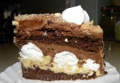 Tort chałwowo-czekoladowy