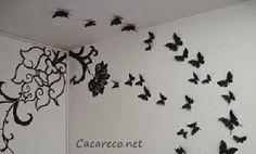 Gy Farias: Decorando sua casa com borboletas na parede