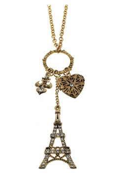 Eiffel Tower Pendant Necklace  @angie_valo