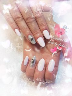 Pastel pink & sliver with sticker  Check out my page on Instagram@ nailsjchan or www.nailsbyjackiec.com