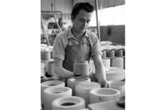 Hornsea Pottery flashback images - Dated 2nd April 1966 -   Items of pottery are removed from their moulds at Hornsea Pottery, East Yorkshir...