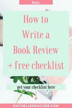 How to Write a Book Review + free checklist