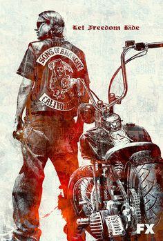 Sons Of Anarchy - Works of Marcell Bandicksson Sons Of Anarchy Tattoos, Sons Of Anarchy Samcro, Motorcycle Art, Bike Art, Looks Rockabilly, Sons Of Arnachy, David Mann Art, Harley Davidson Wallpaper, Harley Bikes