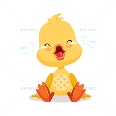 Buy Cartoon Duckling Crying by Top_Vectors on GraphicRiver. Little cartoon duckling crying, cute emoji character vector Illustration isolated on a white background Emoji Characters, Disney Characters, Fictional Characters, Cute Emoji, Vector Pattern, Illustration, Tweety, Winnie The Pooh, Pikachu