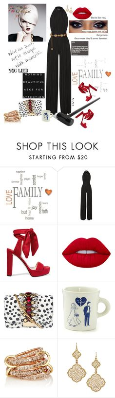 """""""So, What"""" by princeoftyre ❤ liked on Polyvore featuring Brewster Home Fashions, Balmain, Jimmy Choo, Lime Crime, GEDEBE, Fishs Eddy, SPINELLI KILCOLLIN, Blu Bijoux and Chanel"""