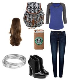 """""""lonely school girl by lexi"""" by ponyboysgirlfriend ❤ liked on Polyvore"""