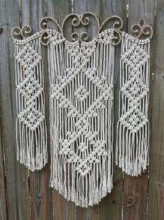 Ornamental Iron Macrame Wall Hanging | Inspiring Macrame Wall Hangings Ideas For Your Home
