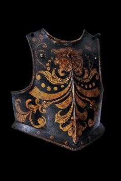 Half Armor of a member of the Papal Swiss Guard, c. 1600 with 18th century blued and gilded decoration
