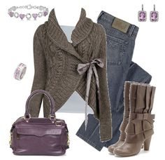 love this whole outfit, especially the boots and cardigan