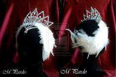 Swan Lake ballet - Odette headpiece by arcticorset.deviantart.com on @deviantART