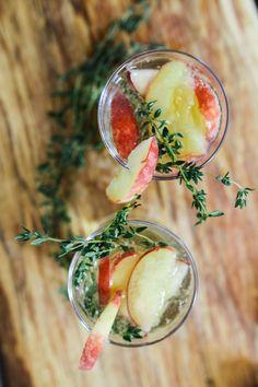 Peach + Thyme Sangria Recipe // Bonne O Sparkler | Treasures & Travels