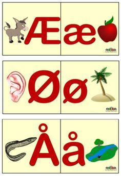 puslekort vokalerne 1 Kindergarten, Preschool, Playing Cards, Barn, Education, Learning, Kids, First Grade, Young Children