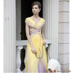 Purple and yellow formal dress the weaving is so pretty