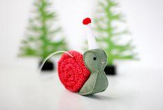 Snail ornament by My Hideaway  #etsy #handmade #handmadechristmas #holiday
