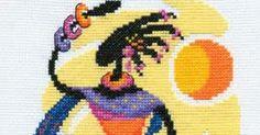 Punto De Cruz - Mas de 5,000 Gráficos: CUADRO DE AFRICANA Cross Stitch, African, Dots, Needlepoint, Manualidades