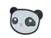 Knieflicken Hosenflicken Bügelflicken Panda patch