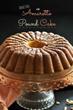 Amazing Amaretto Pound Cake -