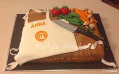 b45cbbe4027 Master Chef Birthday Cake Anna is a big fan of cooking shows so for her  birthday she is having a Master Chef themed party   this.