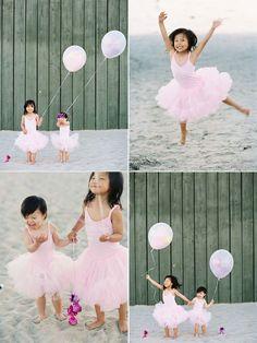 cute girls on beach