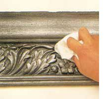 How to apply a faux pewter finish.
