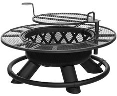 King Ranch Fire Pit with Grilling Grate SRFP96 by Shinerich ...