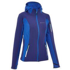 a7b9d3c00 39,99 - Deportes de Montaña - Chaqueta softshell Forclaz 600 light mujer  azul