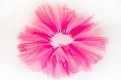 Pink girls TuTu Skirt with ribbon by CrazySmykker on Etsy, kr150.00