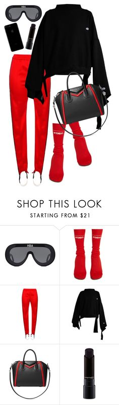"""""""o my god."""" by nikkischeper ❤ liked on Polyvore featuring Vetements, MSGM, Givenchy and MAC Cosmetics"""